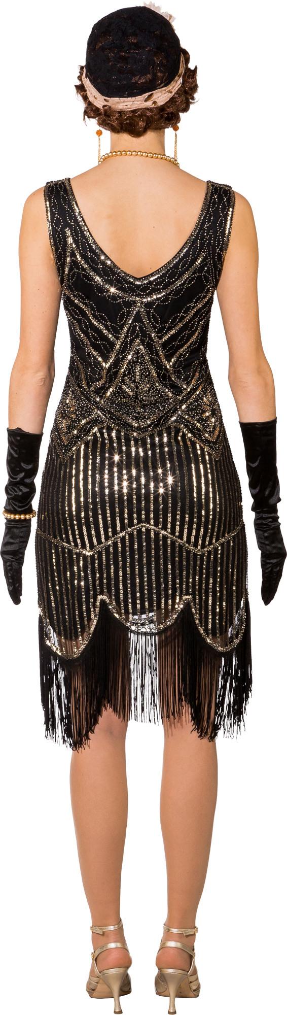 Fasching Kostüm Damen Charleston 20Er Jahre Kleid Schwarz