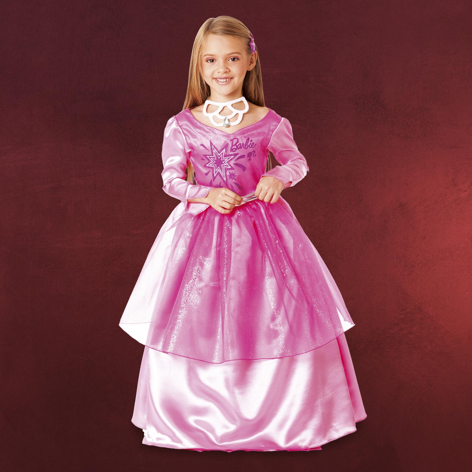 Fasching Kostüm Kinder Barbie Prinzessin Kleid/Schmuck