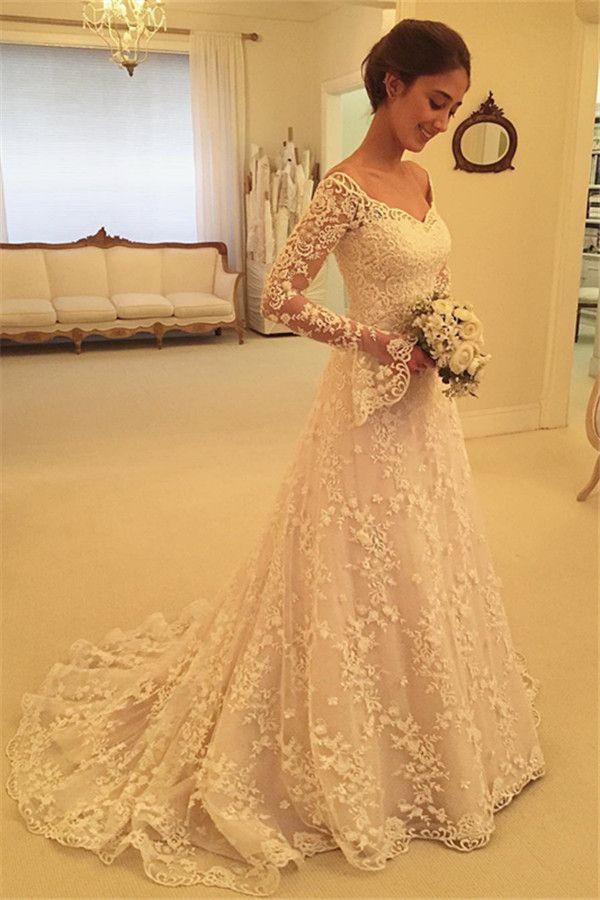 Fashion Hochzeitskleider Für Mollige Mit Ärmel Günstige
