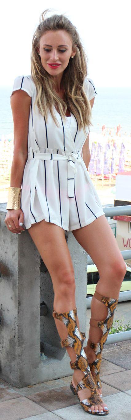 Fashion Spot Striped Romper Fall Inspo  Hochzeitsgast