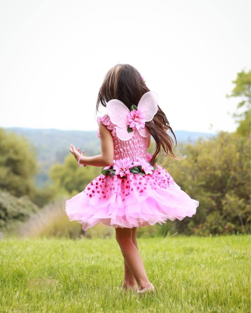 Feenkleid Pink Mit Flügeln Grösse S  Spielgeschenke