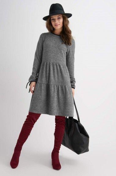 Feinstrickkleid  Orsay  Sommer Kleider Modestil