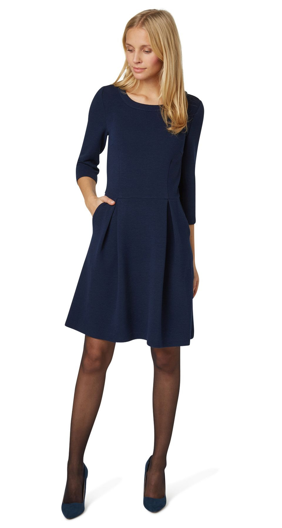 Feminine Textured Dress  Feminine Structure Dress From