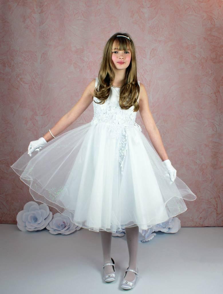 Festkleid Mädchenkleid Für Hochzeit Kommunionkleid Kurz