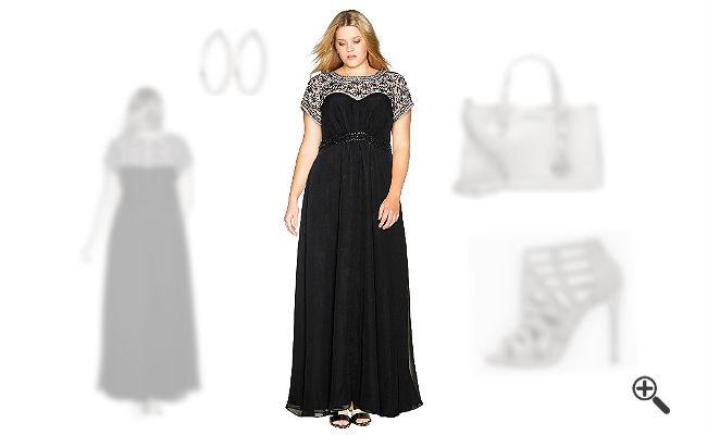 Festliche Kleider Für Mollige Damen In Lang  Outfit Für