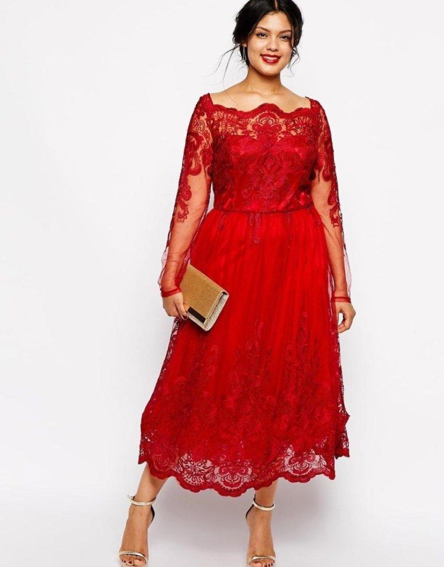 Festliche Kleider Für Mollige Zur Hochzeit  Abendkleid