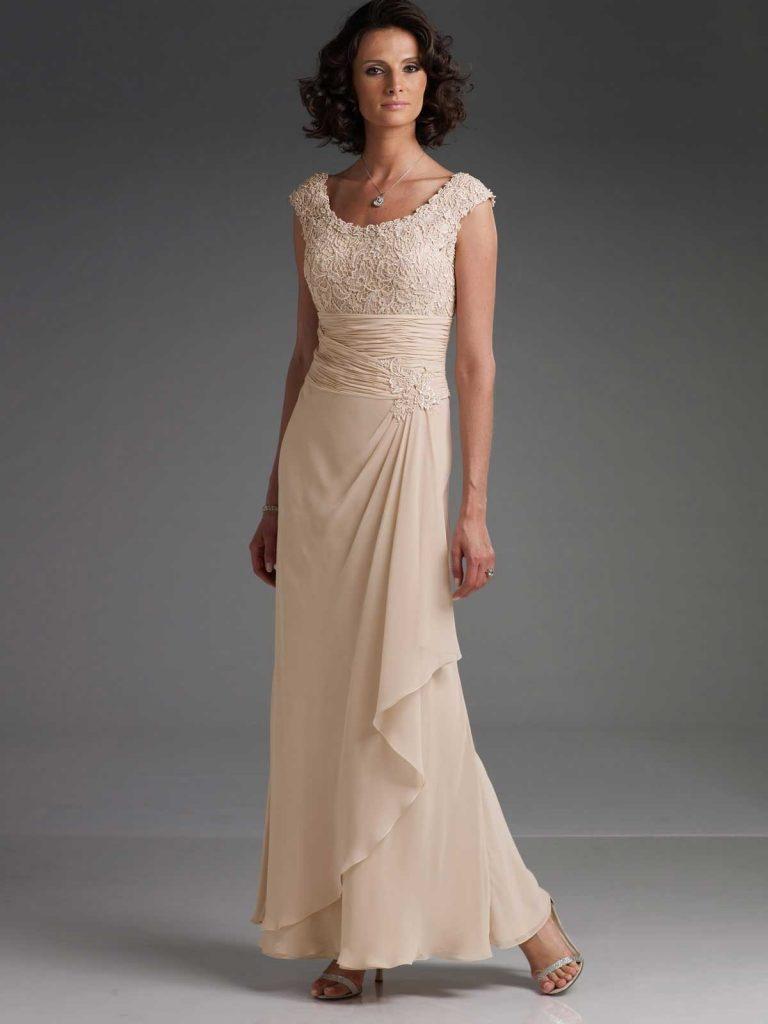 Festliche Kleider Zur Hochzeit Für Brautmutter  Detail  Abendkleid