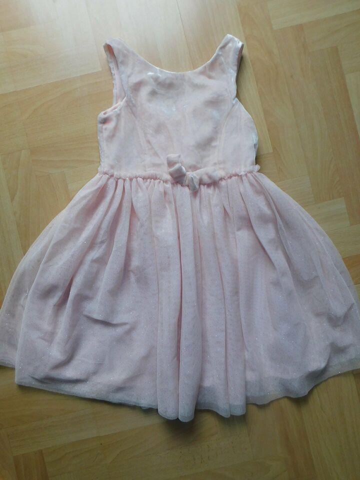 Festliches Hm Kleid Gr 128 Rosa Samt Tüll Glitzer