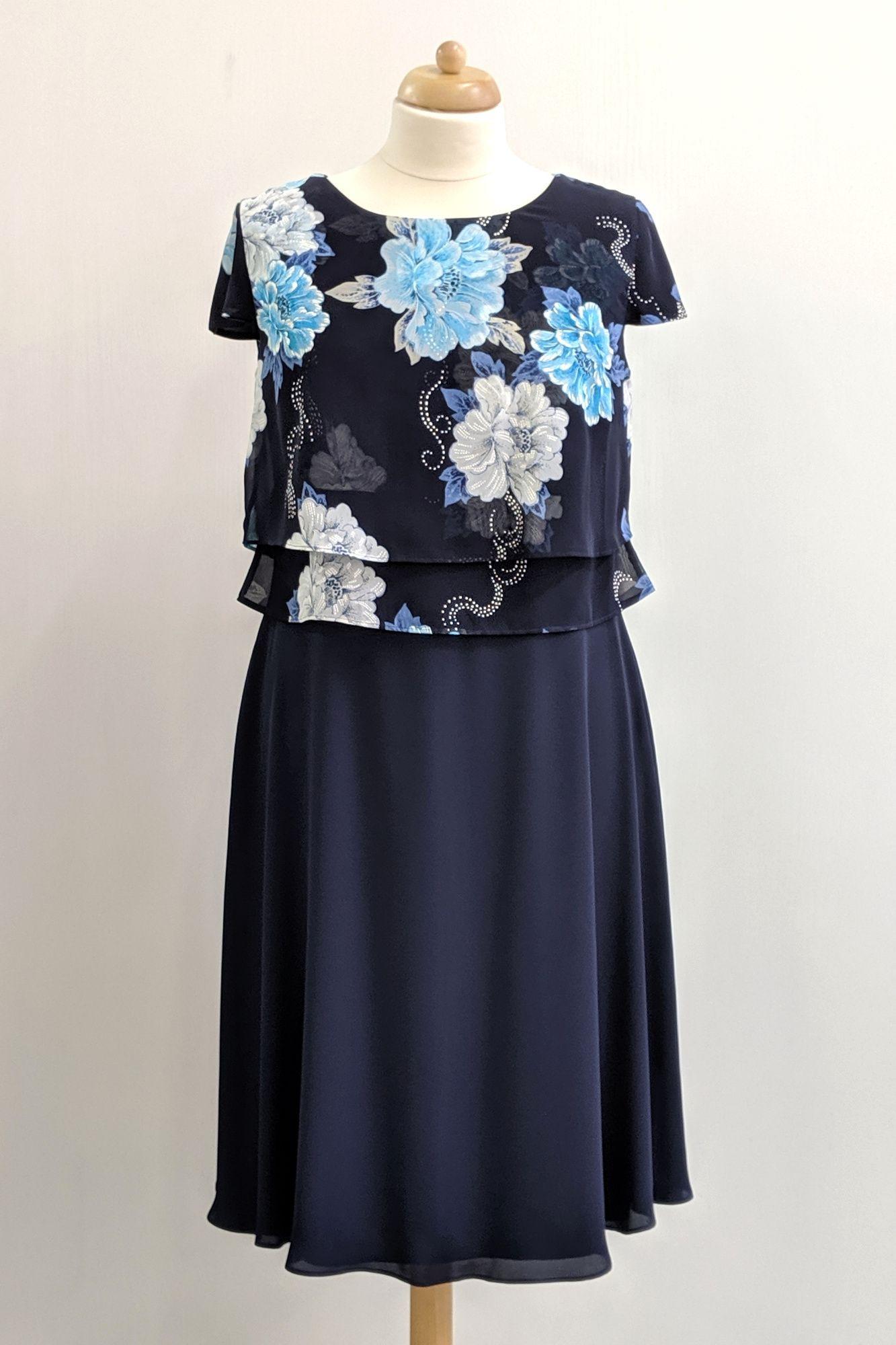 Festliches Kleid Für Hochzeitsgäste  Chiffon Kleid