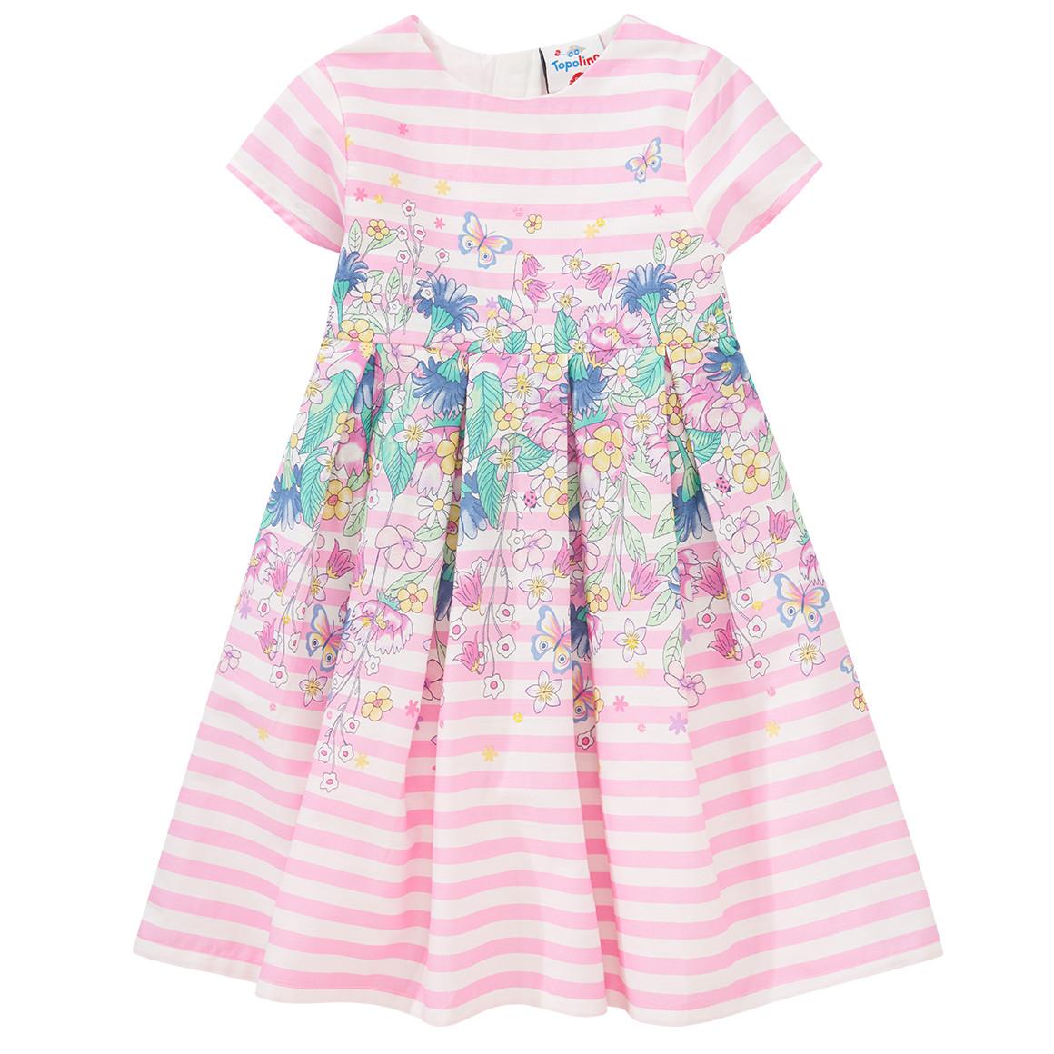 Festliches Mädchen Kleid Mit Blumenprint  Ernsting'S Family