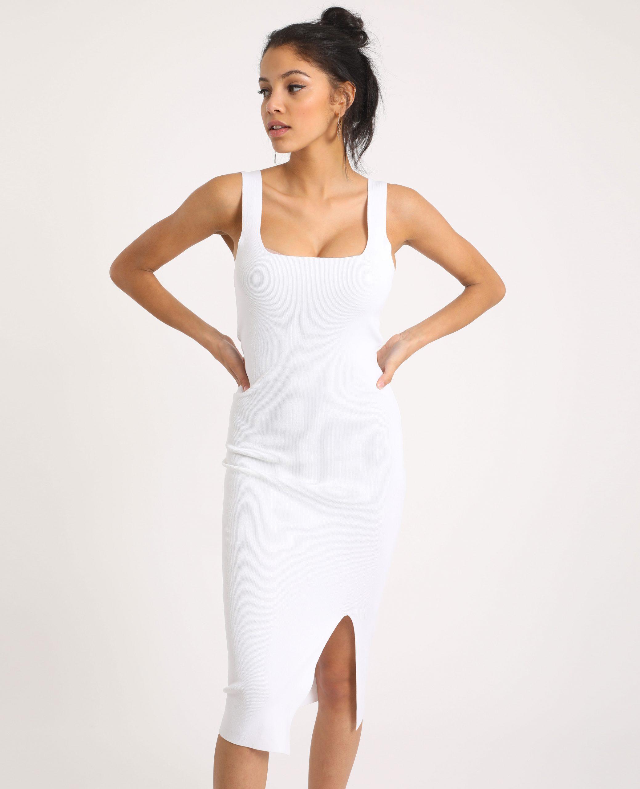 Figurbetontes Kleid Weiß 50  781383900A09  Pimkie