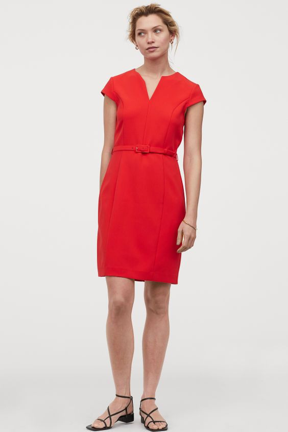 Figurnahes Kleid  Rot  Ladies  Hm De In 2020