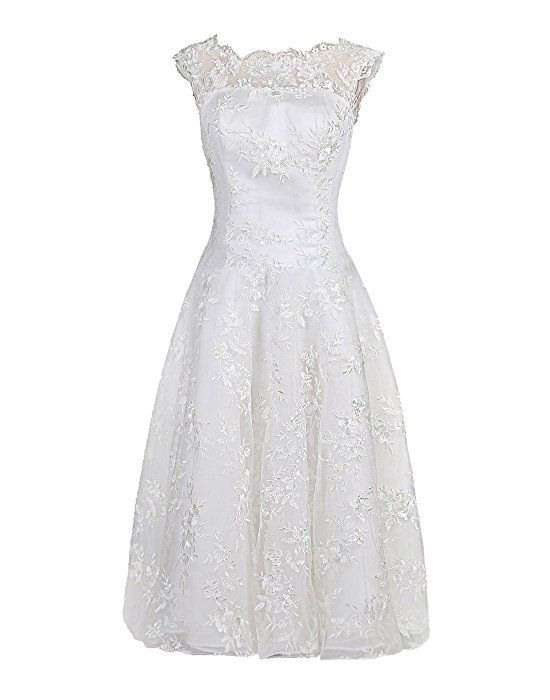 Find Dress Hochzeitskleider Standesamtkleid Weiß Alinie