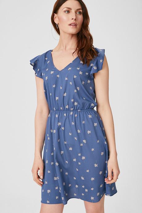 Fit  Flare Kleid In Blau  Festliche Kleider