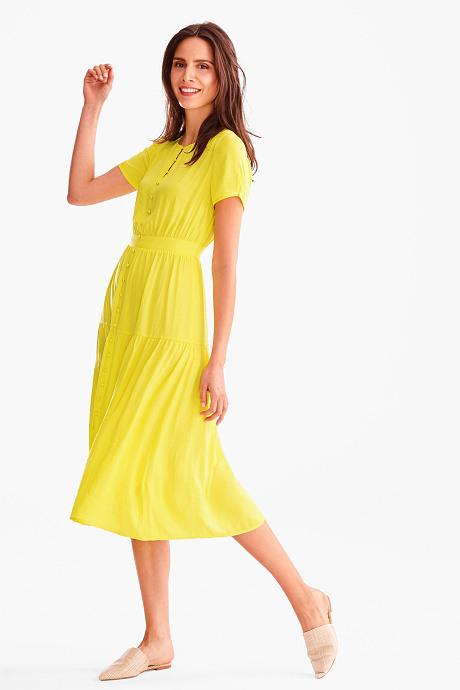 Fit  Flare Kleid In Gelb  Festliche Kleider
