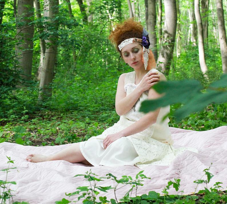Flapper Kleid Weiße Boho Leinen Kleid Eco Hochzeit  Etsy