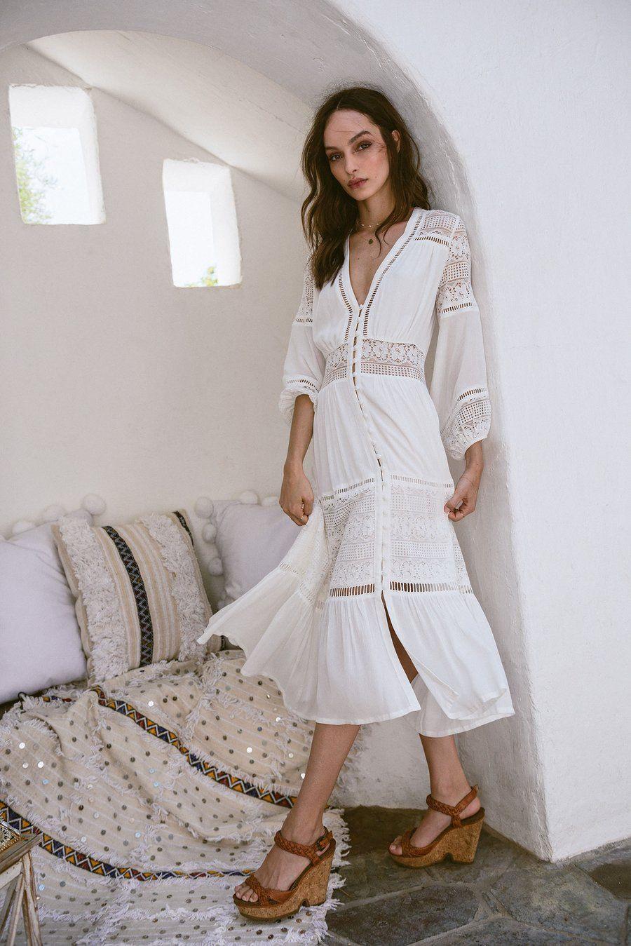 Flora Dress  Boho Kleid Modestil Kleider