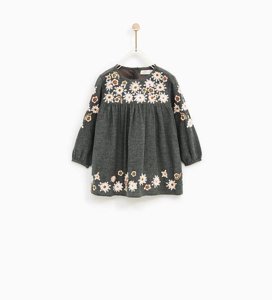 Floral Embroidered Dress  Kinder Kleider Kind Mode