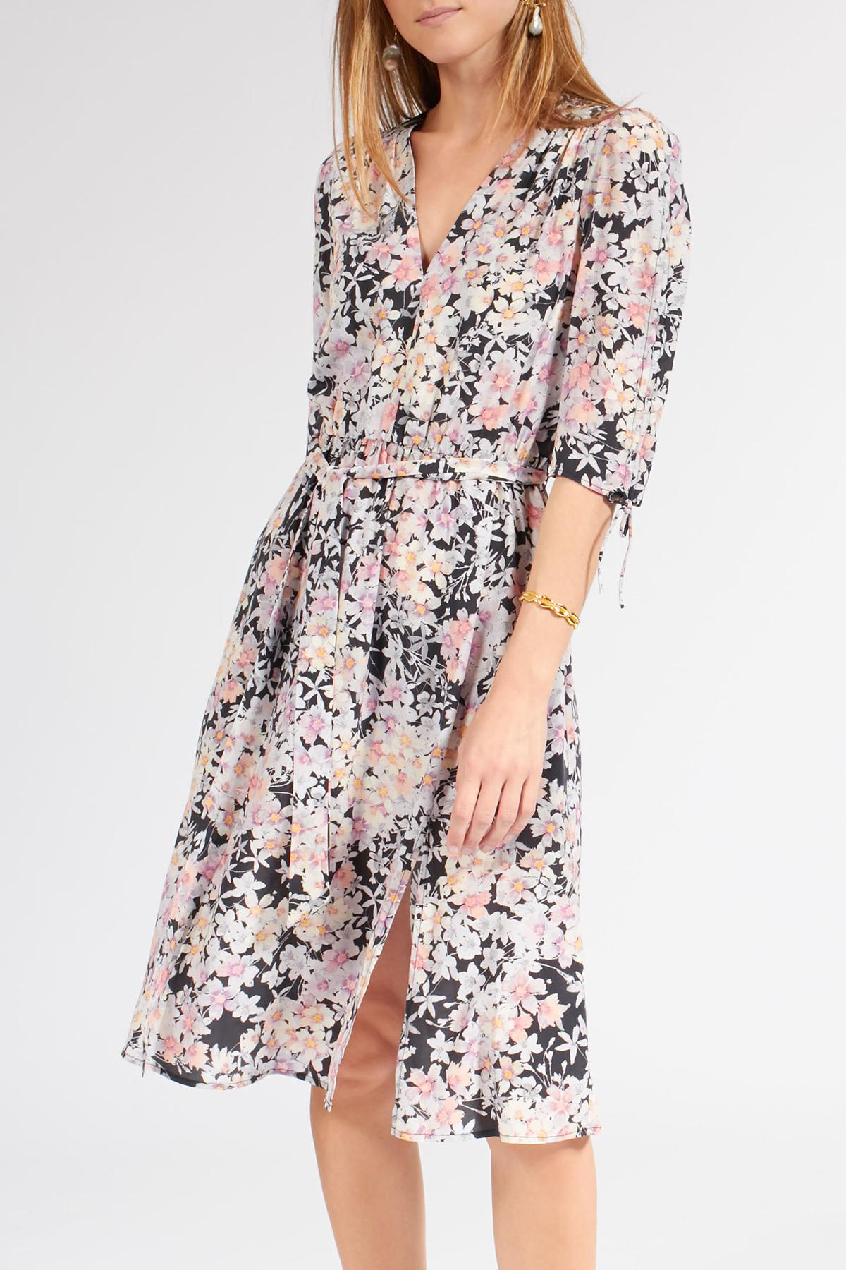 Floral Gemustertes Kleid Aus Seidenstretch  Jadicted