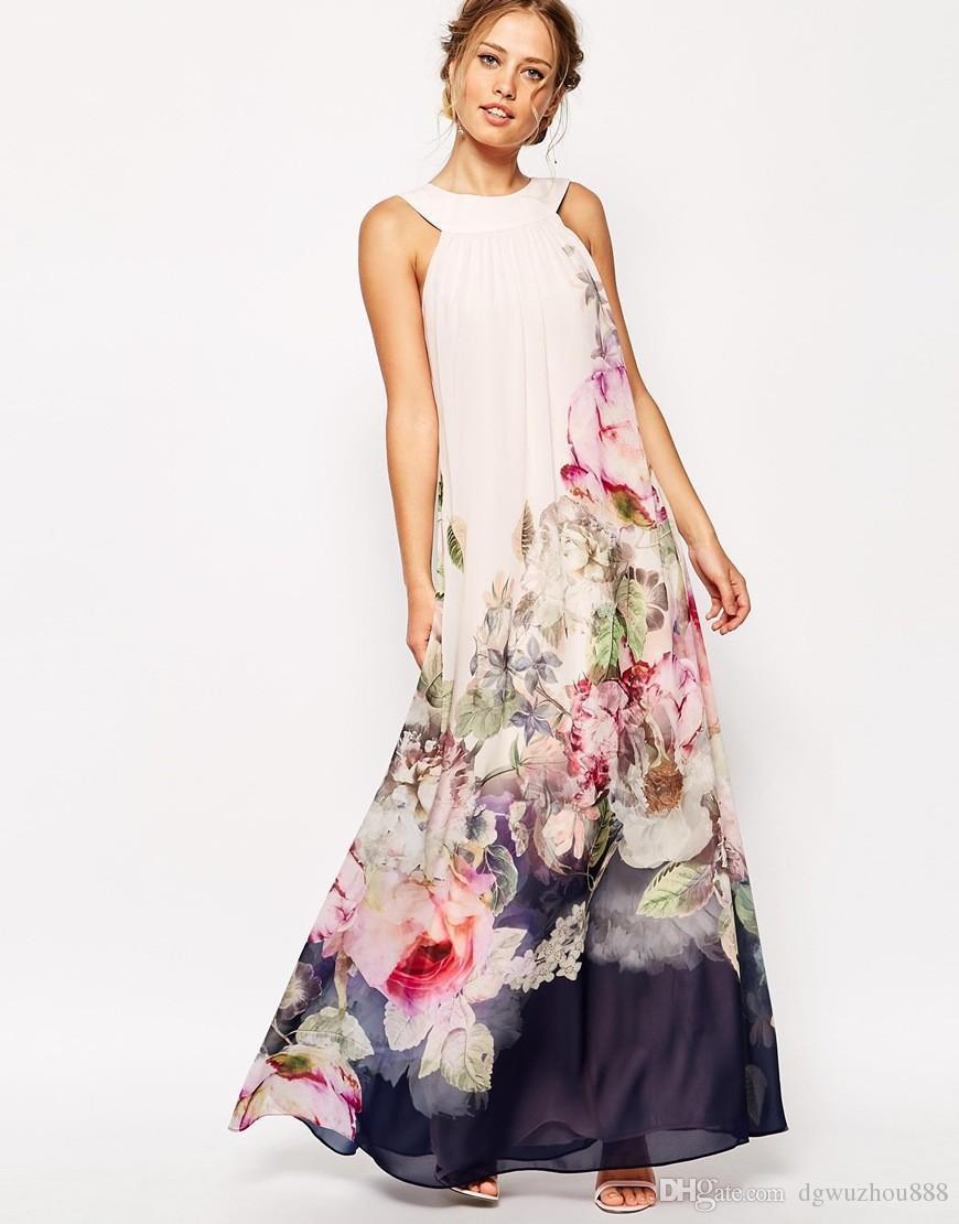 Florale Kleider Lang 604A17