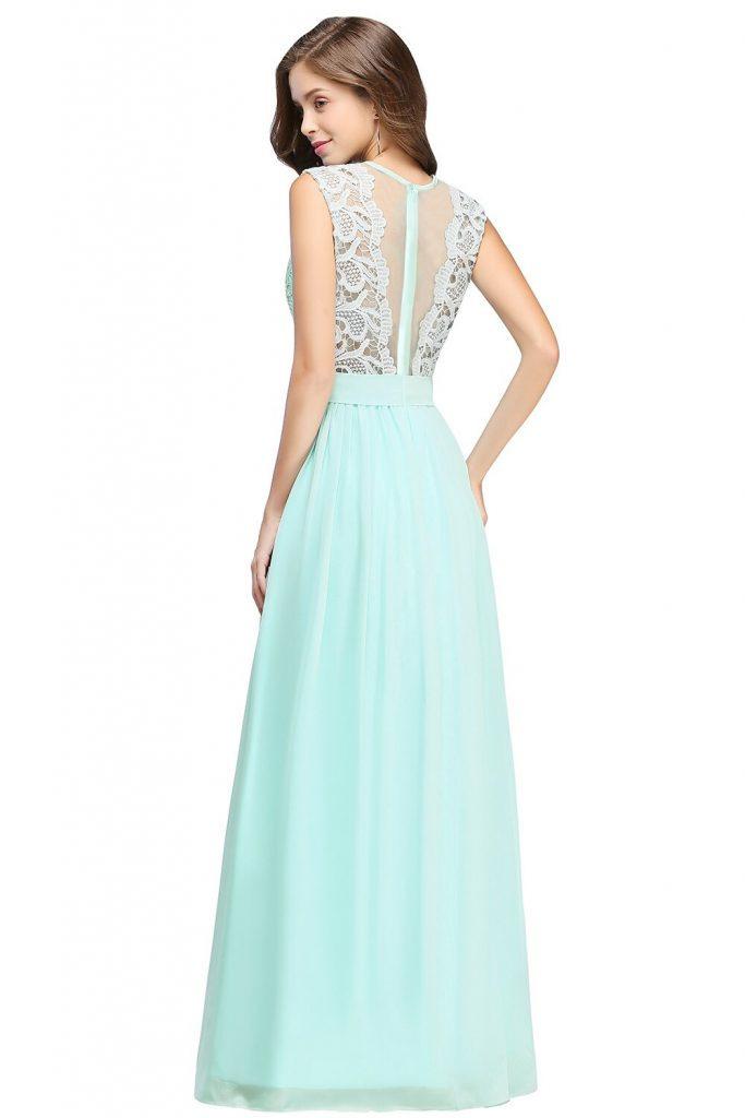 Formal Ausgezeichnet Kleid Lang Mint Galerie  Abendkleid
