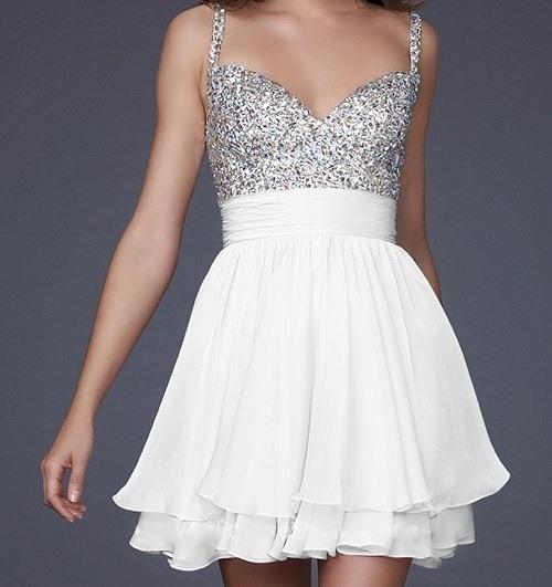 Formal Dress  Weißes Cocktailkleid Probeessen Kleider