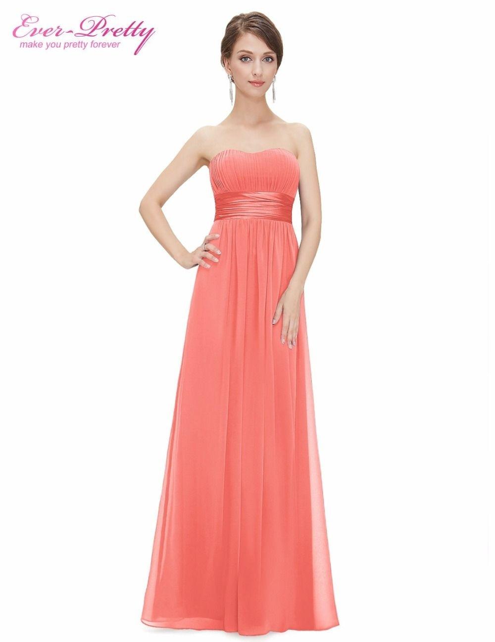 Formal Einzigartig Kleid Koralle Hochzeit Ärmel  Abendkleid
