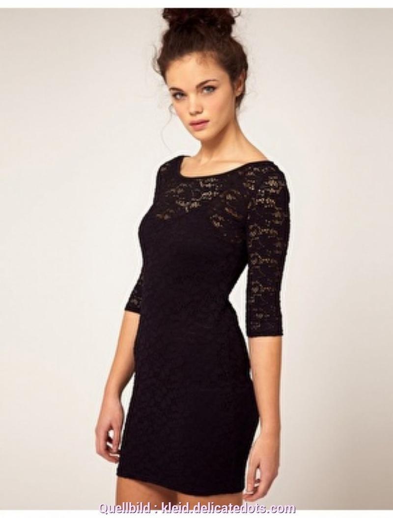 Formal Einzigartig Schwarzes Kurzes Kleid Mit Spitze