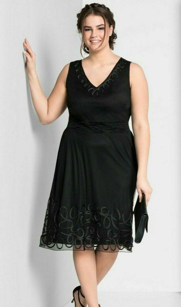 Formal Elegant Damen Kleid Festlich Knielang Design