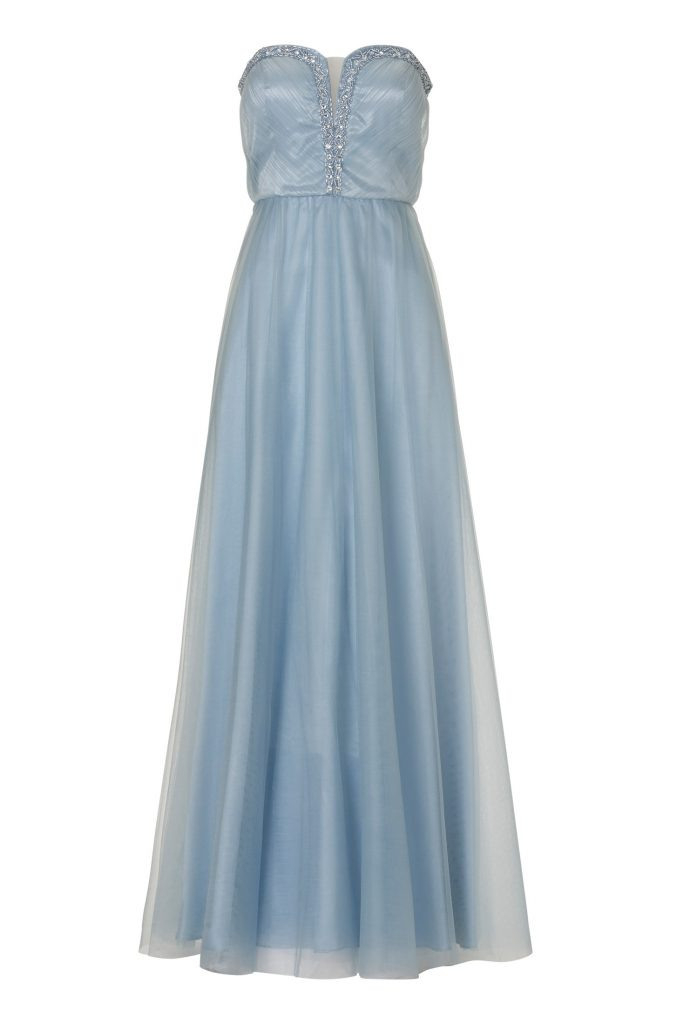 Formal Erstaunlich Langes Kleid Hellblau Stylish  Abendkleid