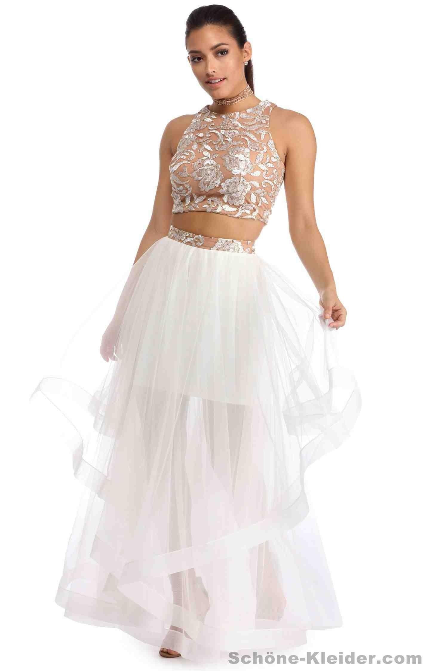 Formal Großartig Zweiteiliges Kleid Kurz Ärmel  Abendkleid
