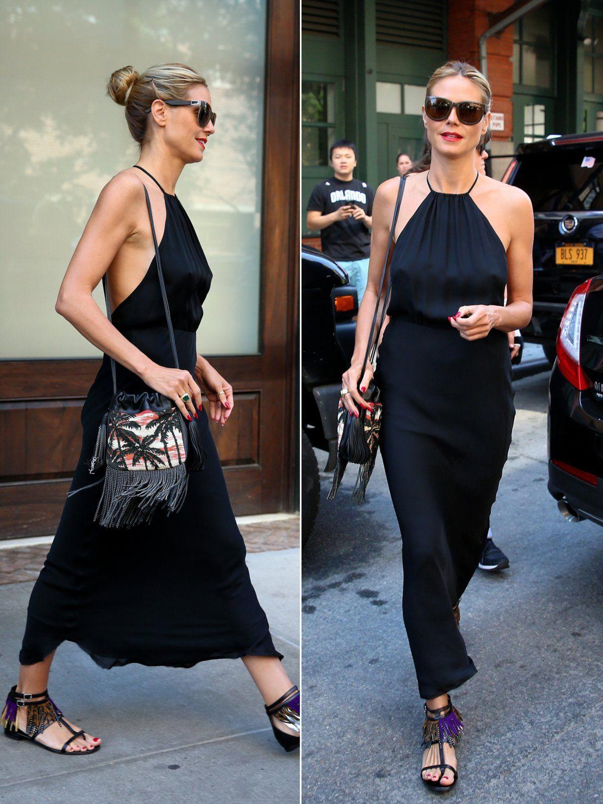 Fransensandalen 2016  Heidi Klum Style Klum Und Outfit
