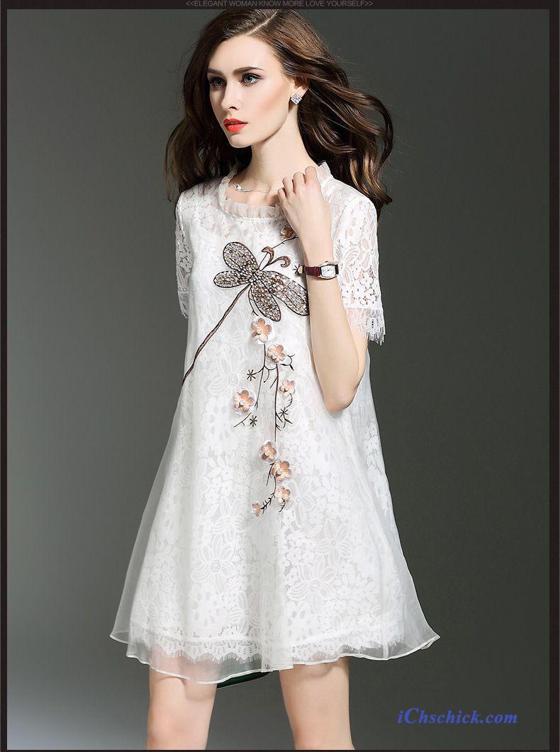 Frauen Kleider Kaufen Flieder Kleid Knielang Verkaufen