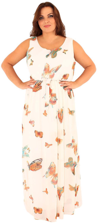 Frauen Schmetterling Blumen Muster Chiffon Taille Gürtel