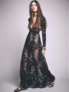Free People Temecula Maxi Dress In Black  Lyst