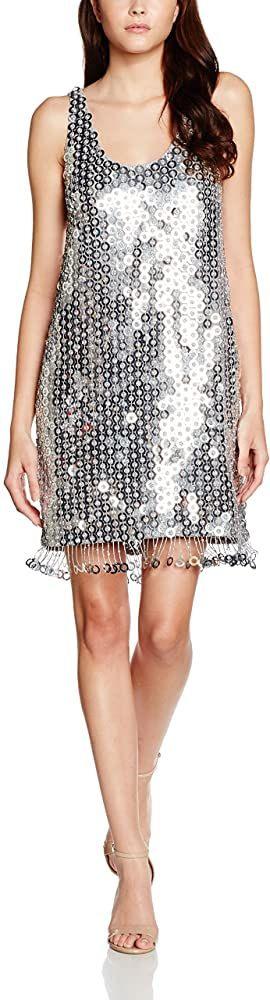French Connection Damen Kleid Cindy Sparkle Kleider