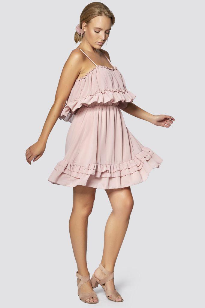 Freshlions  Kleid Mit Trägern Und Rüschen In