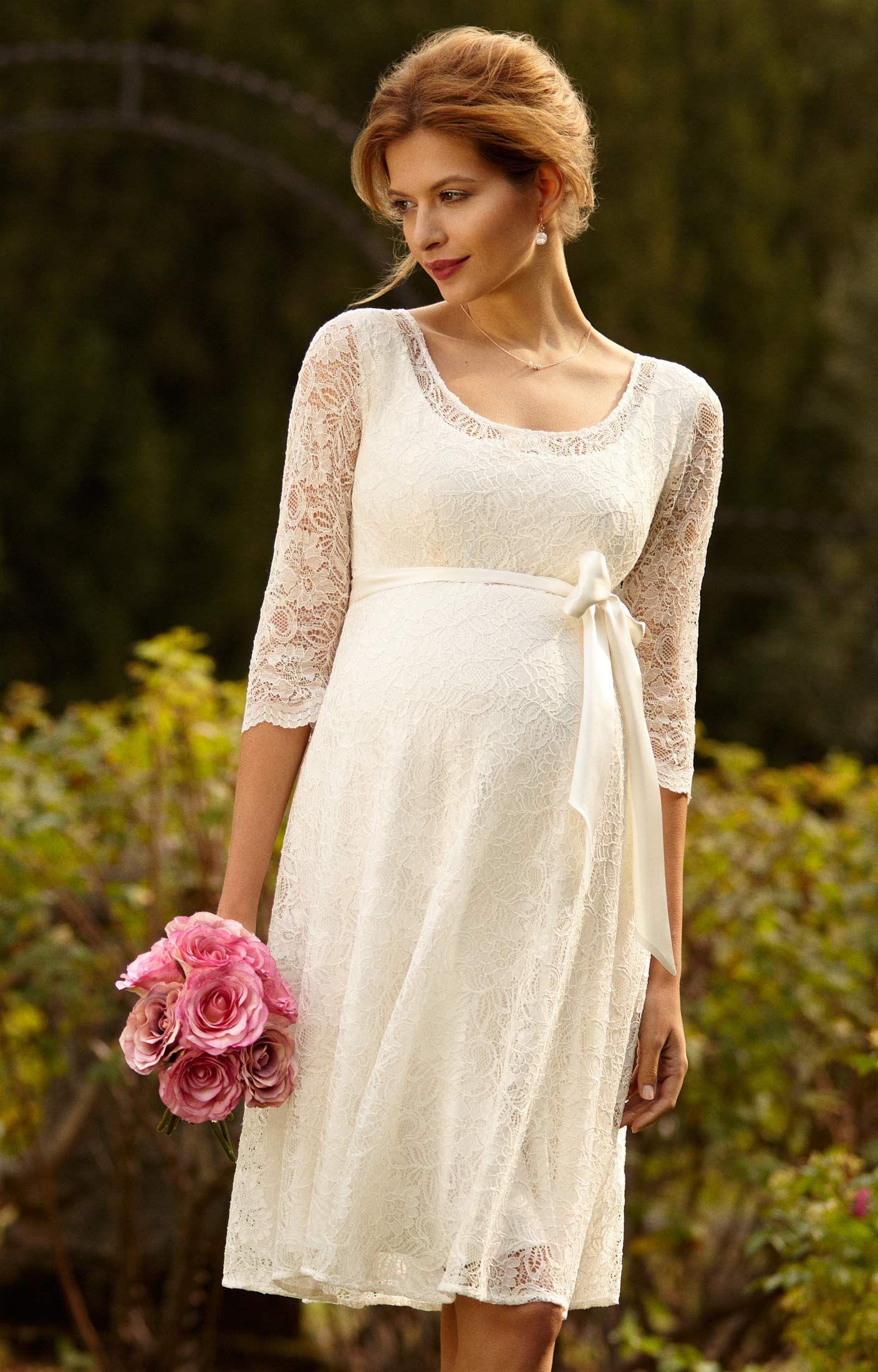 Freya Maternity Wedding Dress Ivory  Maternity Wedding