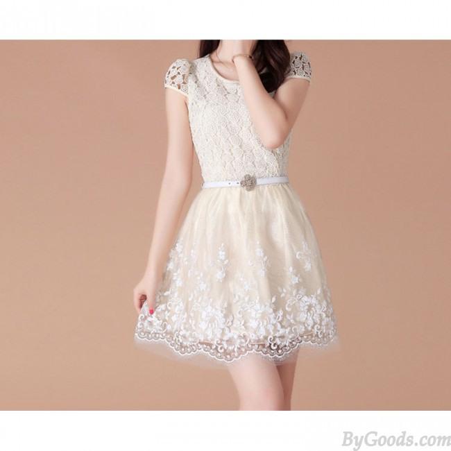 Frische Sommer Organzaspitzekleid  Mode Kleider