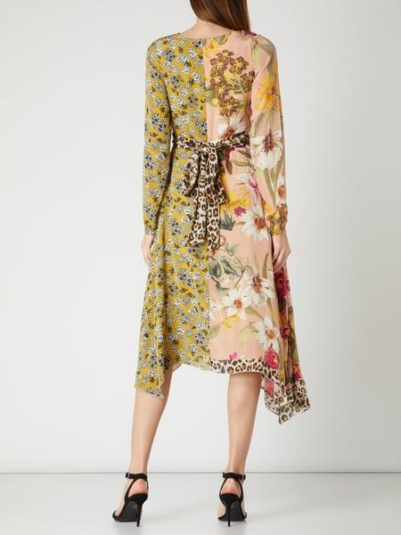 Frogbox Kleid Aus Viskose Mit Mustermix In Gelb Online