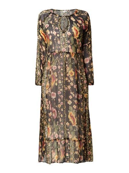 Frogbox Kleid Mit Allovermuster In Grau / Schwarz Online