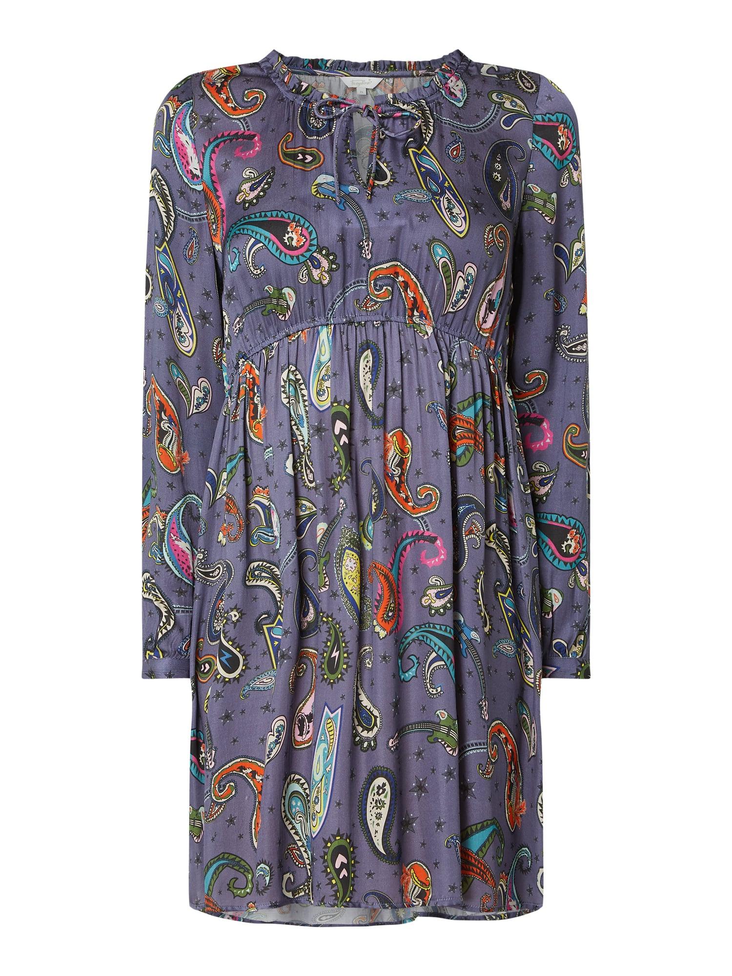 Frogbox Kleid Mit Paisleydessin In Blau / Türkis Online