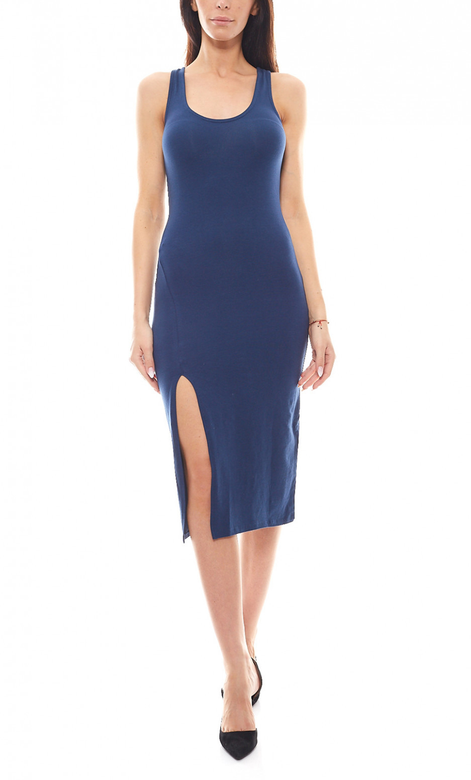 Funky Buddha Party Kleid Eng Anliegendes Jerseykleid Mit