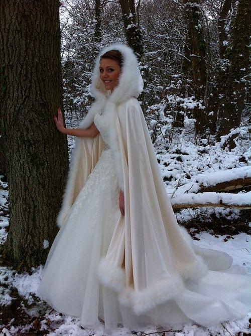 Fur Cloak  Hochzeit Kleidung Winter Hochzeit Kleidung