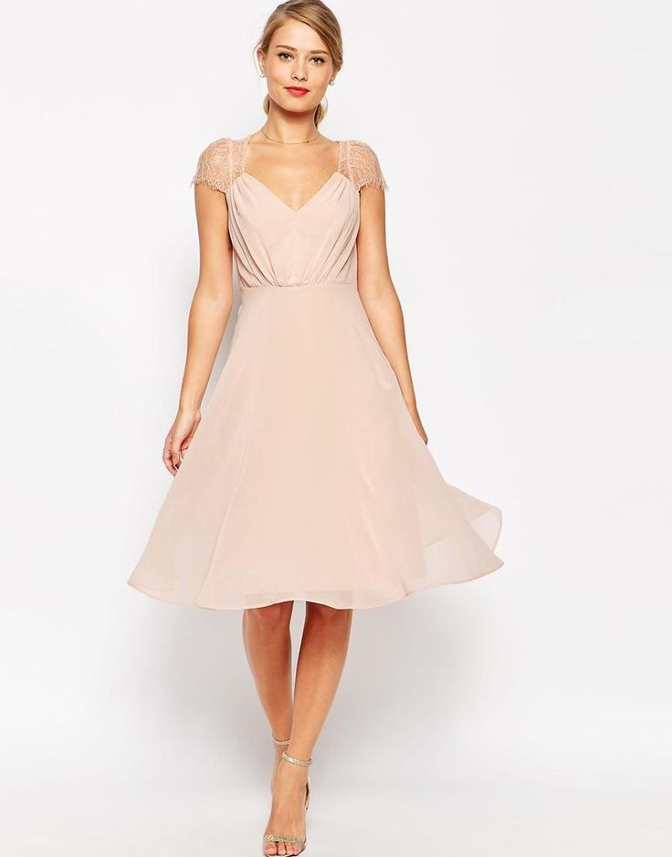 Für Hochzeit/Gast  Lace Midi Dress Lace Dress With