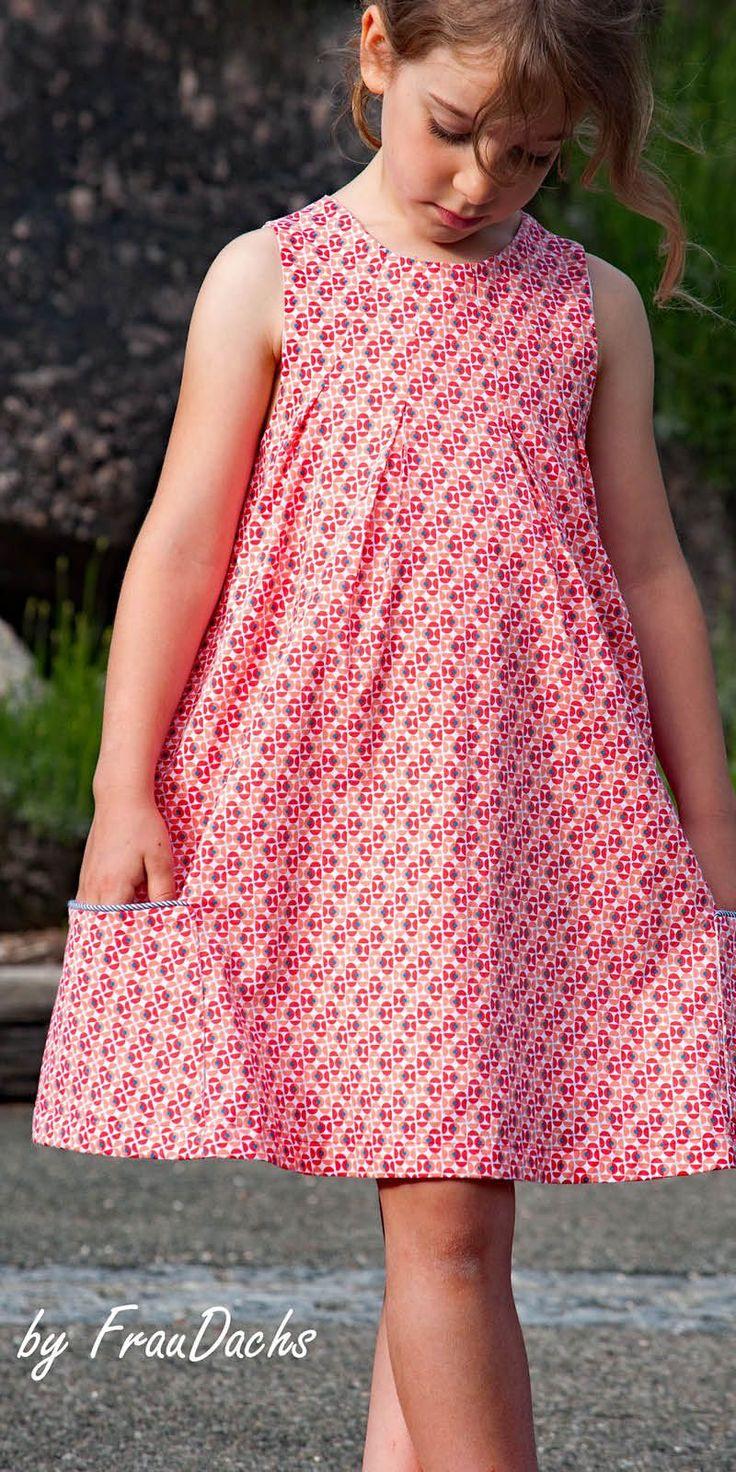Gänseblümchen  Mädchen Kleider Nähen Kind Kleid Nähen