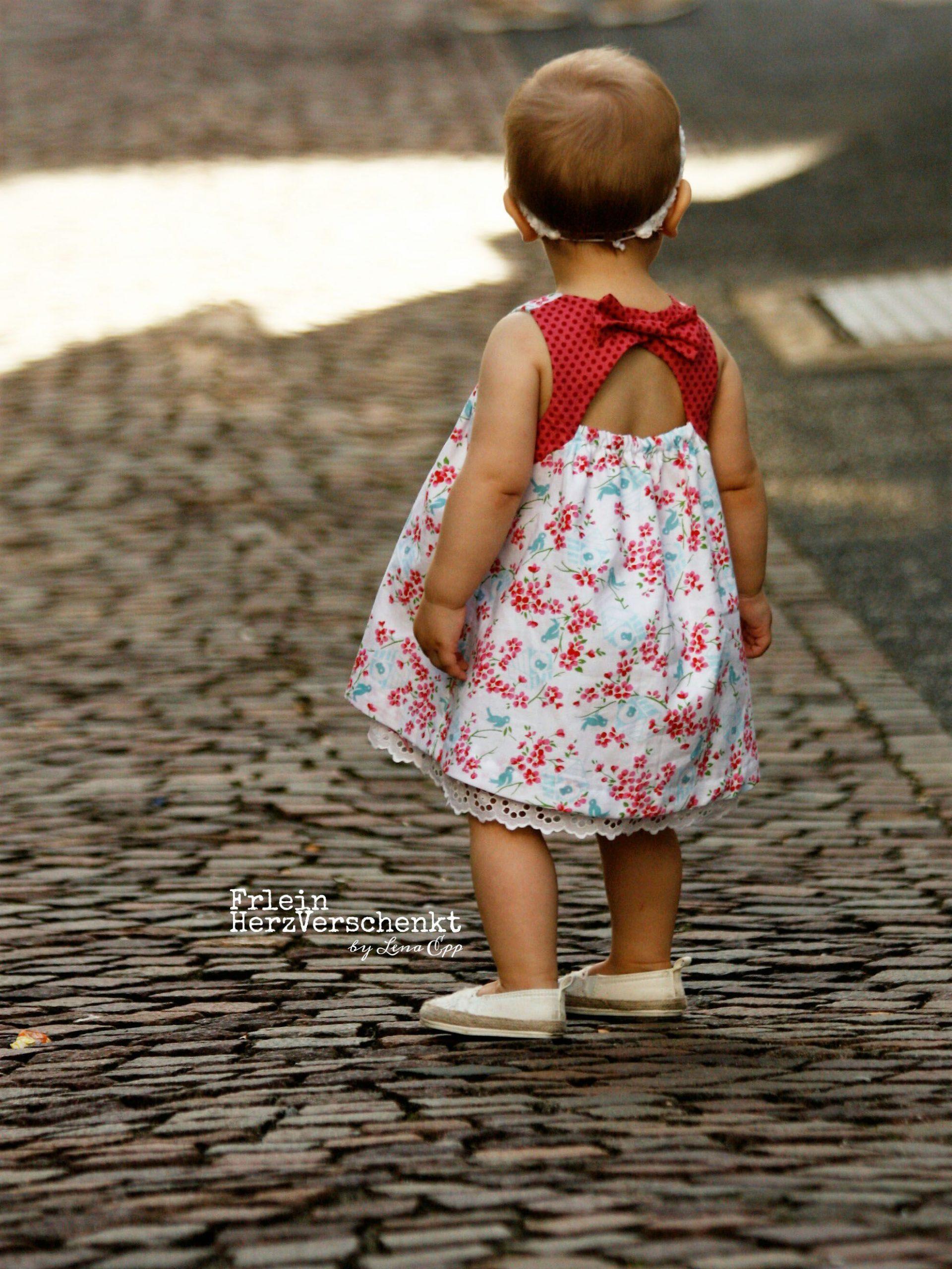 Gänseblümchen  Mädchen Kleider Nähen Schnittmuster