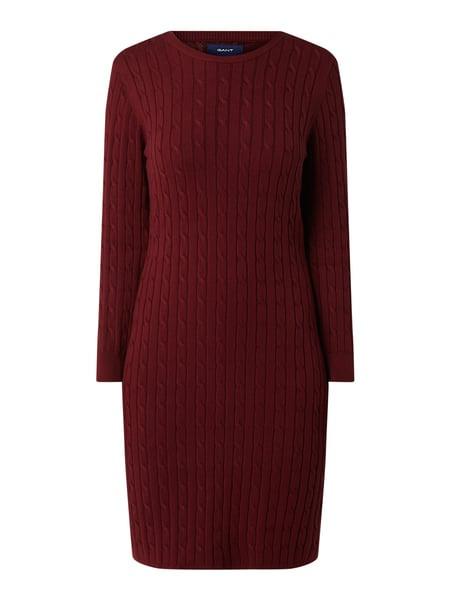 Gant Kleid Mit Zopfmuster In Rot Online Kaufen 4032252 P