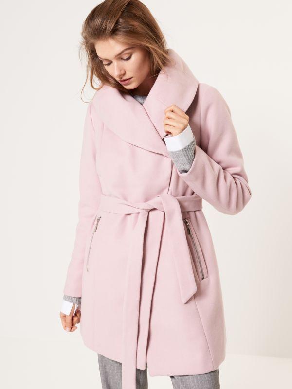 Gefütterter Mantel Mit Breitem Kragen Mohito Rl13303X