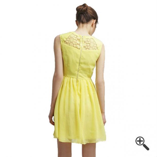 Gelbes Kleid Kurz Kombinieren  Kleider Günstig Online